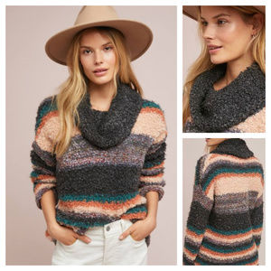 Anthro Moth Murray Striped Turtleneck Jumper XS